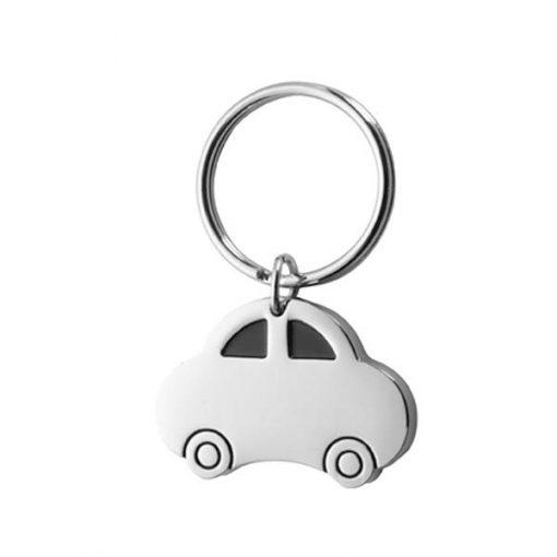 Chaveiro de carro retrô em metal
