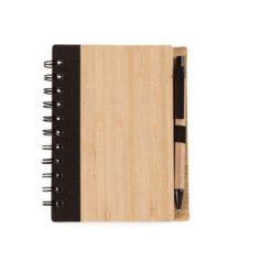 bloco bambu com caneta