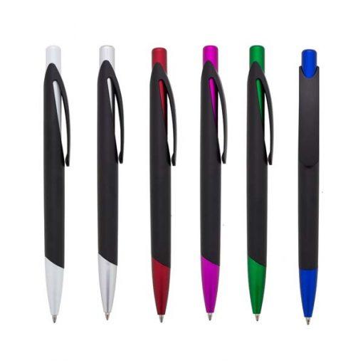 brinde caneta personalizada preta cores