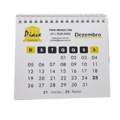 calendário de mesa frente