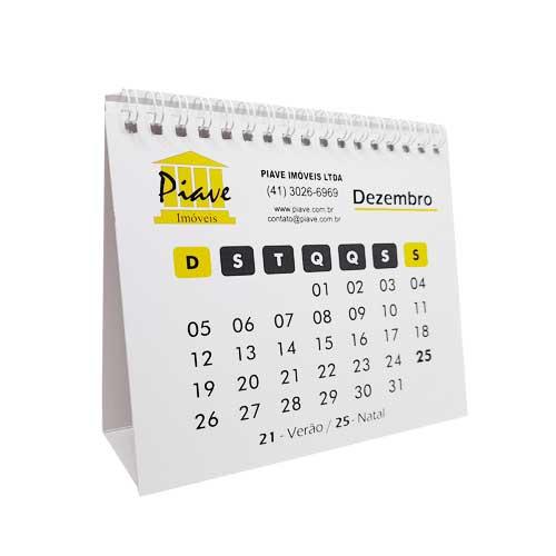calendário de mesa com foto