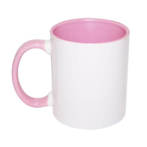 Caneca rosa e branca 1