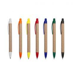 caneta reciclável personalizada cores