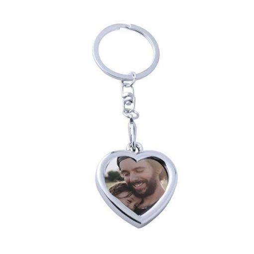 chaveiro porta foto coração