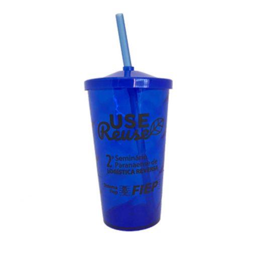 copo com canudo 600 ml