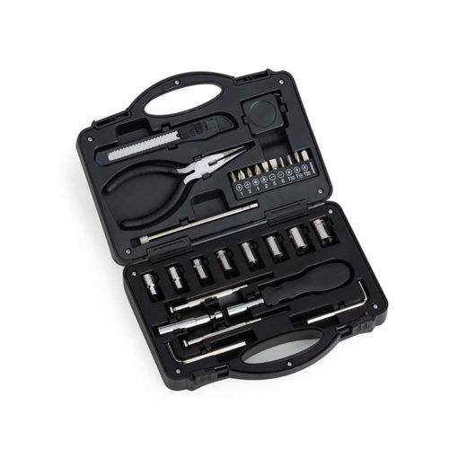 maleta de ferramentas aberta