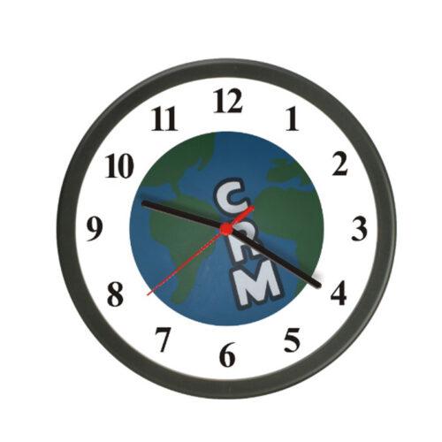 relógio de parede redondo preto
