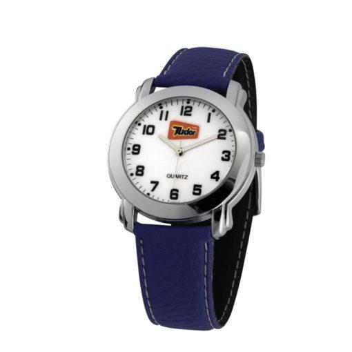 Relógio de pulso com pulseira de couro sintético